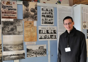 Alex Mott (great Grandson) with exhibition
