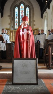 Bishop Colin of Dorchester dedicates the VC paving slab