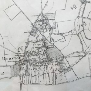 Map 11 1st series OS drayton and sutton wick
