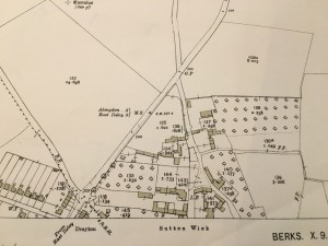 Map 12 Sutton Wick 1933 OS map